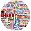 Energy words - Stock Photo