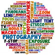 Photography words — Stock Photo