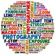 Stock Photo: Photography words