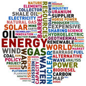 Energy words — Stock Photo