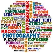 Photography words — Stock Photo
