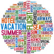 Stock Photo: Vacation words