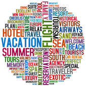 Vacation words — Stock Photo