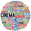 Stock Photo: Cinema words