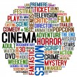 Cinema words — Stock Photo