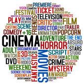 Cinema words — Stock Photo