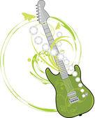 Rocková kytara izolovaných na bílém — Stock vektor
