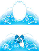 Christmas frame and border — Vector de stock