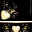 Ornamental elements with heart for decor - Vektorgrafik