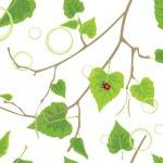 Birch sprig. Decorative spring background — Stock Vector