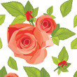 Decorative background with roses - Vektorgrafik