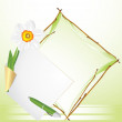 Royalty-Free Stock Vector Image: Frame with daffodil. Festive background