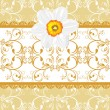 Ornamental background with daffodil — Stock Vector