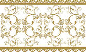 Ornamental border isolated on the white — Stock Vector