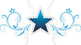 Shining star. Decorative symbol — Vetorial Stock