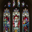 Resurrection Stained Glass Window - Stock Photo