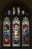 Resurrection Stained Glass Window — Stock Photo