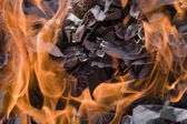 Fire paper — Stock Photo