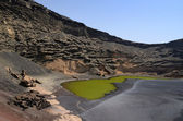 Lanzarote's lake — 图库照片