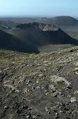 Timanfaya crater in vertical view — Stock Photo