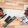 Carpenter's floor equipment — Stock Photo