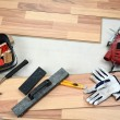 Carpenter&#039;s floor equipment - Stock Photo