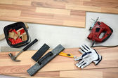 Carpenter's floor equipment — Foto Stock