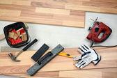 Carpenter's floor equipment — Stock Photo