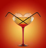 Cocktail for lovers — Stock Photo