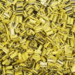 Yellow beads — Stock Photo