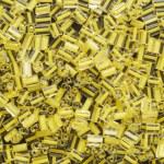 Yellow beads — Stock Photo