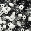 White and black beads — Stock Photo