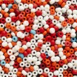 Many-colored mix of beads — Stock Photo #9539759