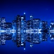 Stock Photo: New York at night with blue hue