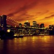 Brooklyn Bridge and Manhattan at sunset, New York — Stock Photo #10576787