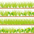 Set of grass — Stock Vector