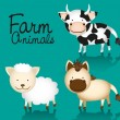 Cute farm animals Set — Stock Vector
