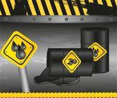 Barrels of oil — Stock Vector
