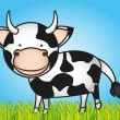 Cute cartoon cow — Stock Vector #10218080