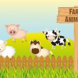 Farm animals — Stock Vector #10218289