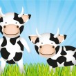 Cute cartoon cows — Stock Vector #10218340