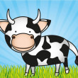 Cute cartoon cow — Stock Vector