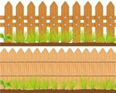 Wooden fence — Stock Vector