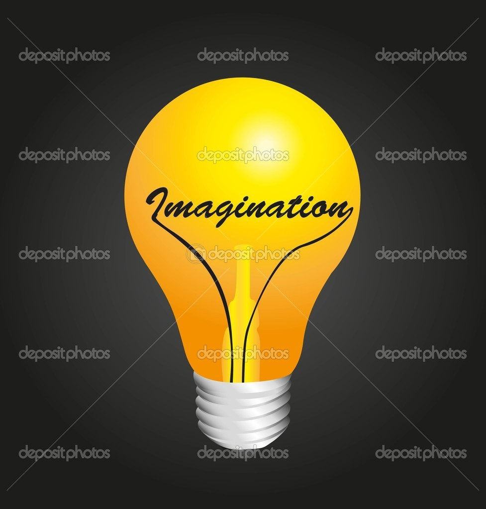 Bulb on, concept imagination, vector illustration  Stock Vector #10218196