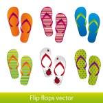 Flip flops — Stock Vector #10244588