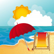 Royalty-Free Stock Imagem Vetorial: Beach vector