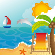 Beach landscape — Vector de stock #10244604