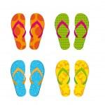 Flip flops — Stock Vector #10244898
