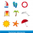 Summer elements — Stock Vector #10244928
