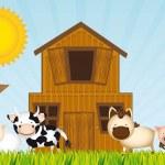 Farm vector — Stock Vector